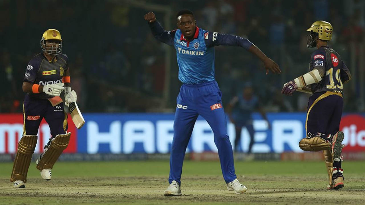 Shreyas Iyer and Rishabh Pant walked out for the Super Over. Prasidh Krishna did well to give away only 10 runs while also getting Shreyas Iyer caught out. With just 11 required for victory Andre Russell and Dinesh Karthik were up against the formidable Kagiso Rabada. Rabada let his class show as he nailed the yorkers and castled Russell off the 3rd delivery. KKR could only manage 7 runs as Delhi handed them their first defeat of the season. (Image: BCCI, iplt20.com)