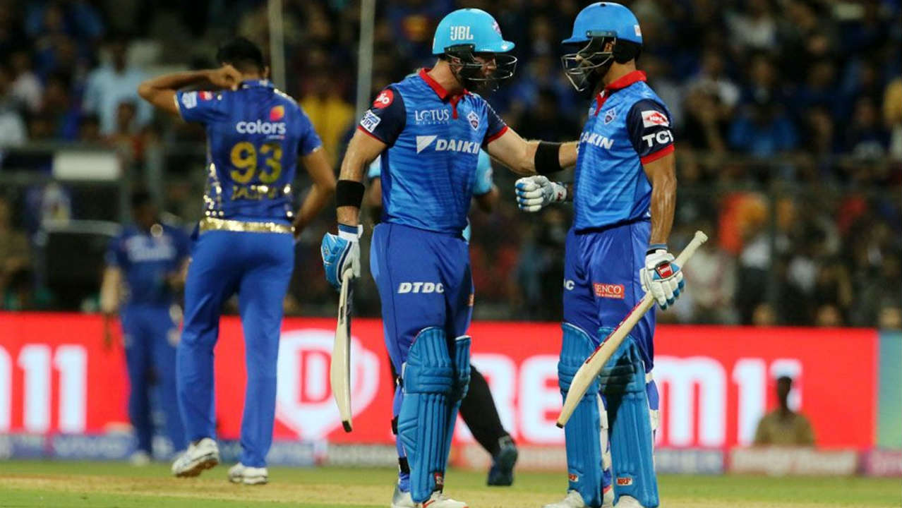 However, Colin Ingram and Shikhar Dhawan then steadied the Delhi innings as they stitched together an 83-run partnership off 56 balls. The partnership ended in the 13th over when Ingram picked out Hardik Pandya at deep midwicket while going for a big shot against Ben Cutting. (Image: BCCI, iplt20.com)
