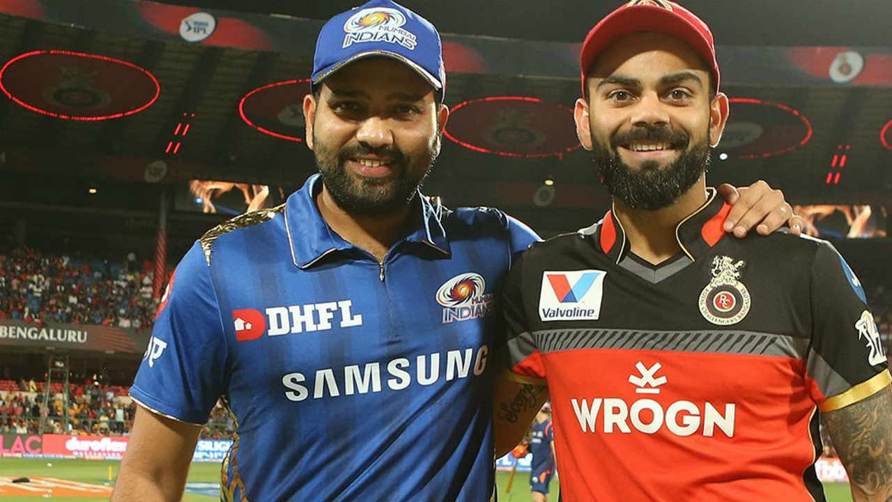 Mumbai Indians travelled to Bangalore for match 7 of the 2019 IPL against Royal Challengers Bangalore. Virat Kohli won the toss and opted to bowl. Mumbai made two changes to their side with Mayank Markande and Lasith Malinga coming in for Ben Cutting and Rasikh Salam. (Image: BCCI, iplt20.com)