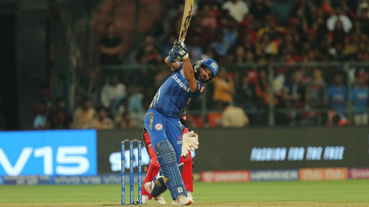 Rohit Sharma was looking in good touch but was dismissed in the 11th over after reaching 48 off 33 balls. Yuvraj Singh then decided to then break the shackles as he deposited Yuzvendra Chahal for three back-to-back sixes at the start of the 14th over but perished on the 4th delivery as he went for yet another big shot but holed out to Mohammed Siraj. Yuvraj made 23 off 12 and Mumbai were reduced to 124/3. (Image: BCCI, iplt20.com)