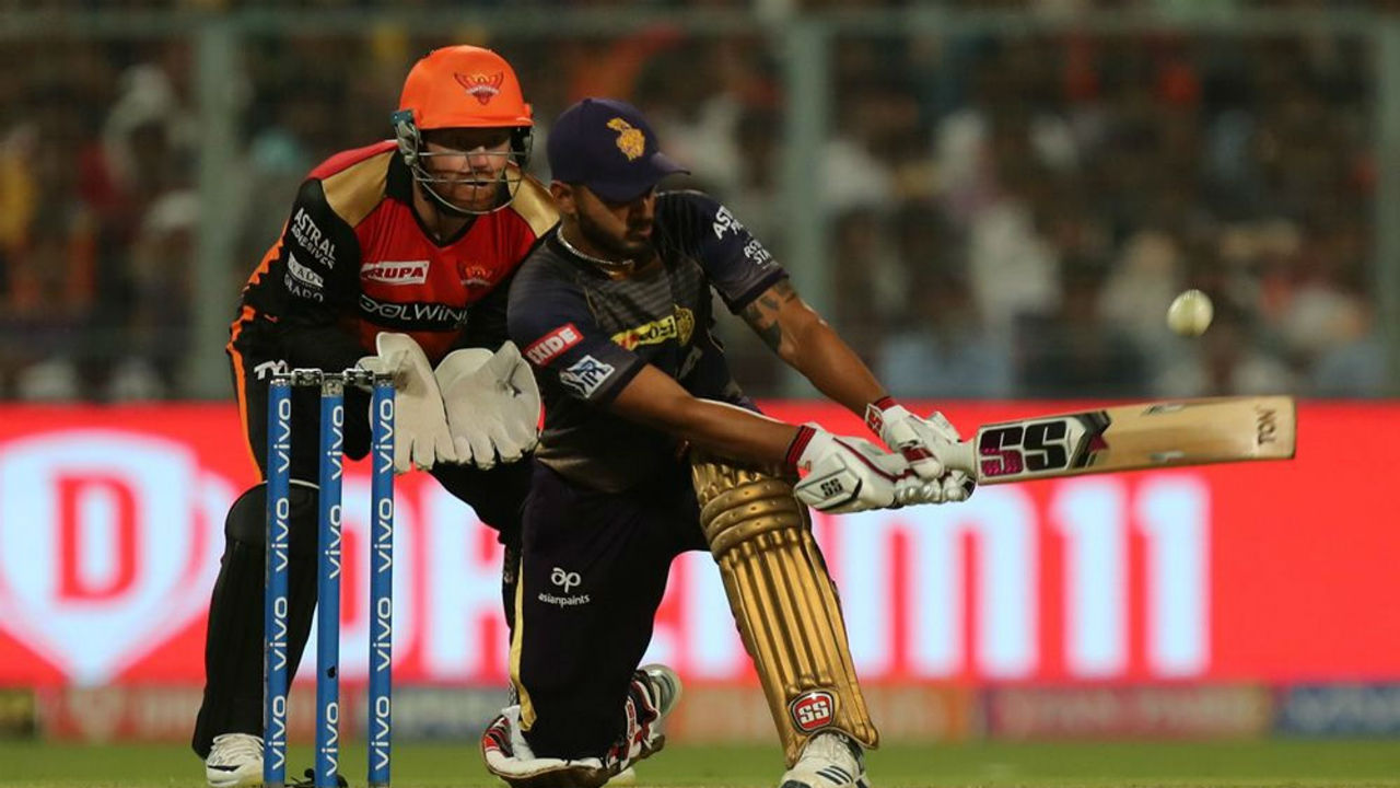 Rana however continued whacking ball to all corner of the ground and completed his fifty. His stay at the crease kept KKR's hope alive.