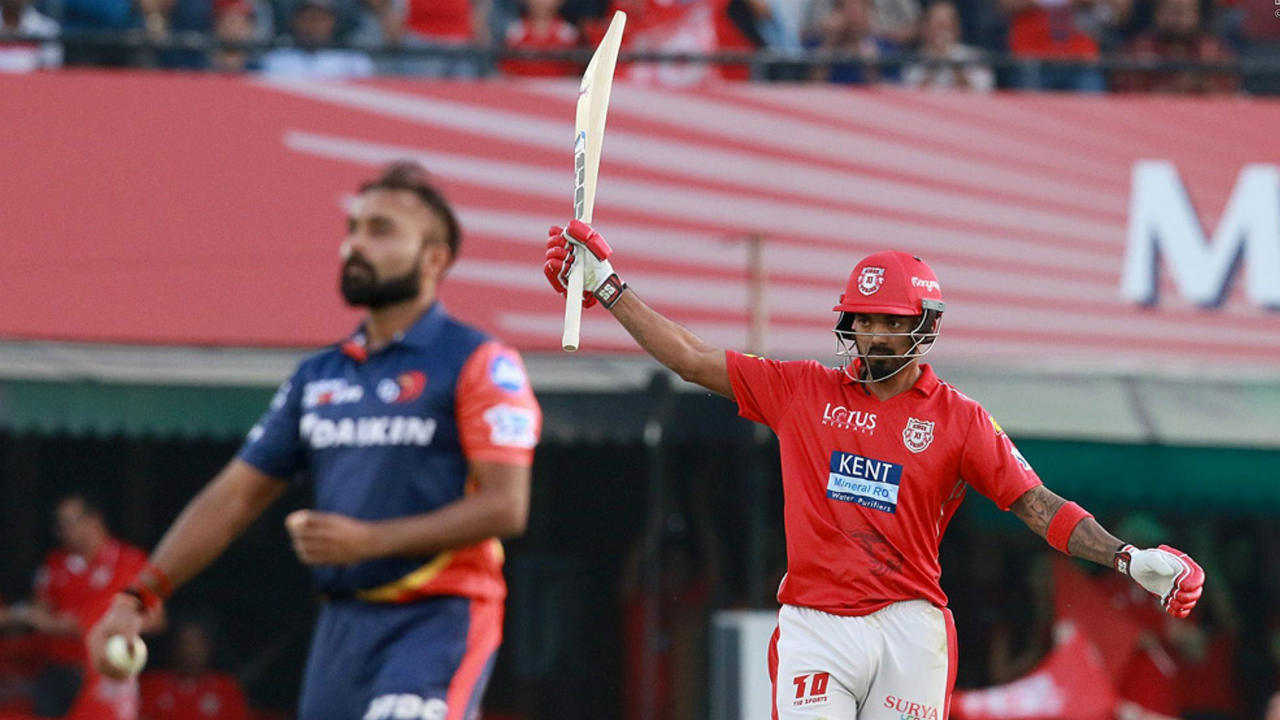 1. Lokesh Rahul (50 off 14 balls vs DC, 2018)   Chasing 167 against Delhi, KL Rahul set the stadium alight at Mohali scoring 50 off just 14 balls with six 4s and four 6s. He was dismissed soon after finishing with 51 off 16 but his quick-fire start helped Punjab secure a comfortable win by 6 wickets. Rahul's innings remains the fastest fifty in the IPL, however the record of fastest T20 fifty still lies with Yuvraj Singh for his 12 ball blitz against England at the ICC World T20 in 2007. (Image: BCCI, iplt20.com)
