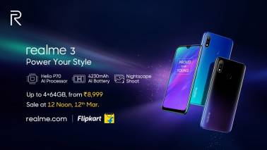 Realme 3 with notch display, dual-rear cameras launched in India: Price, specs, availability