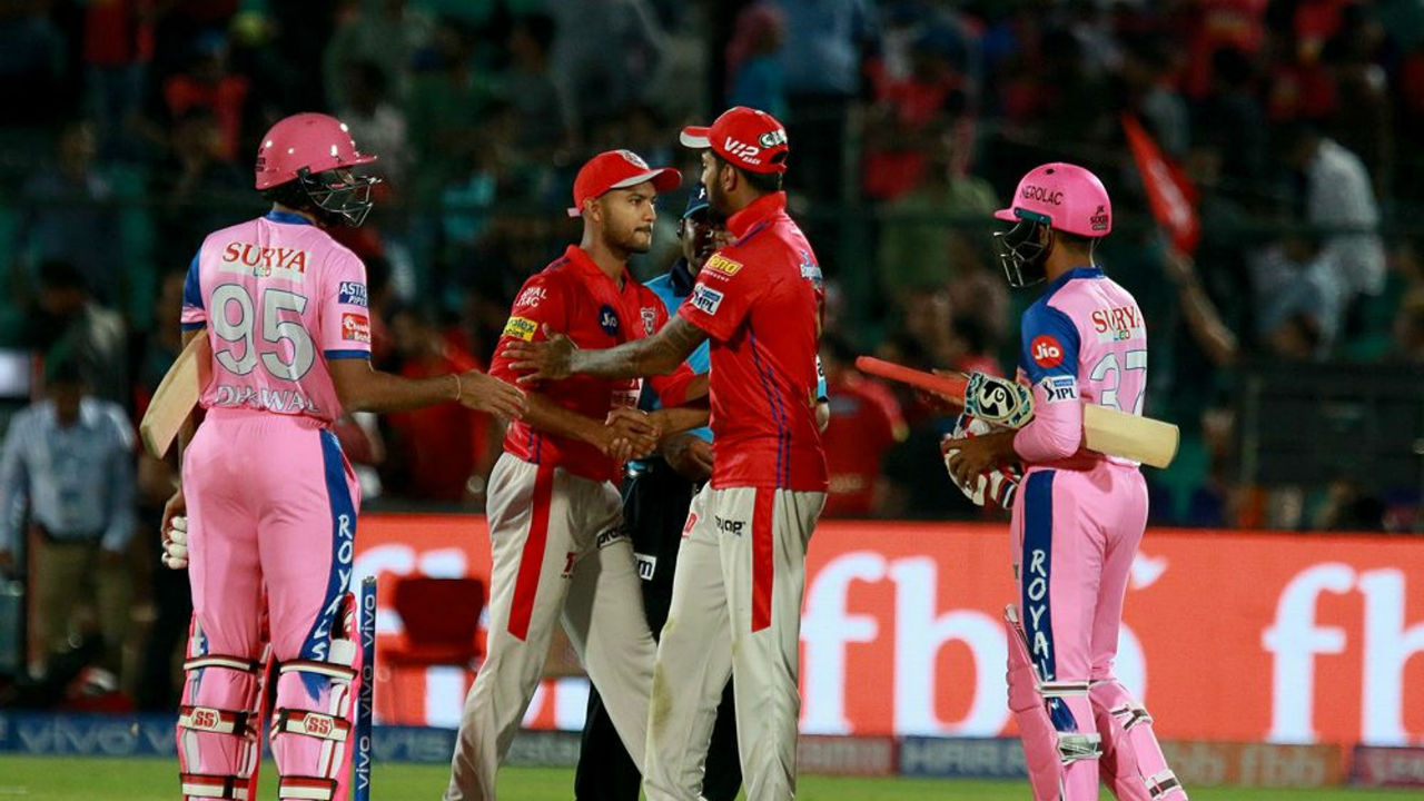 After Smith's dismissal RR batting crumbled as the team was all-out on 164 in 20 overs. KXIP won the match by 14 runs. (Image: BCCI, iplt20.com)
