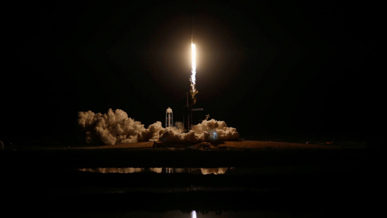 A SpaceX Falcon 9 rocket, carrying the Crew Dragon spacecraft, lifts off on an uncrewed test flight to the International Space Station from the Kennedy Space Center in Cape Canaveral, Florida, US (REUTERS)