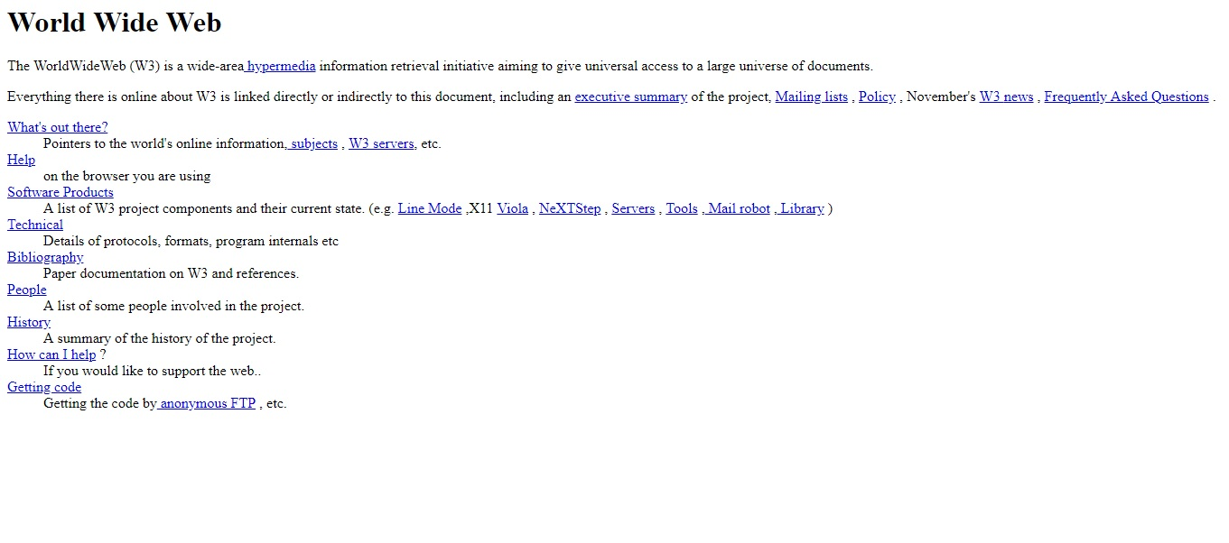 The first website, which went up on August 6, 1991, washttp://info.cern.ch. The website basically gives details about what the www is. (Image: screengrab of the website)