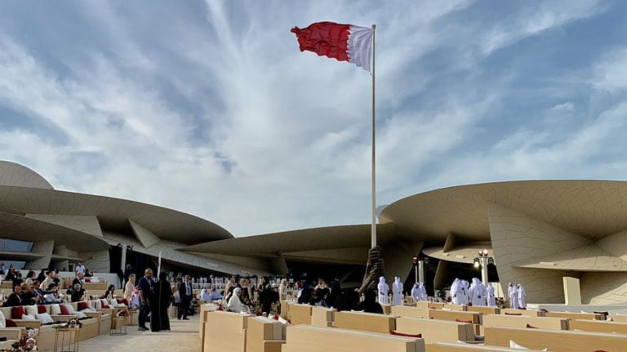 The grand opening ceremony was attended by Amir H H Sheikh Tamim bin Hamad Al Thani, Emir of Qatar, French Prime Minister Edouard Philippe and artists like Johnny Depp. (Image: Twitter)