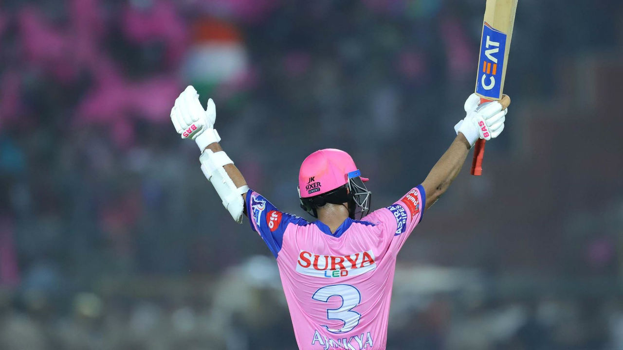 Rahane competed his seocd IPL century in the 17th over as RR were on course of a big total.