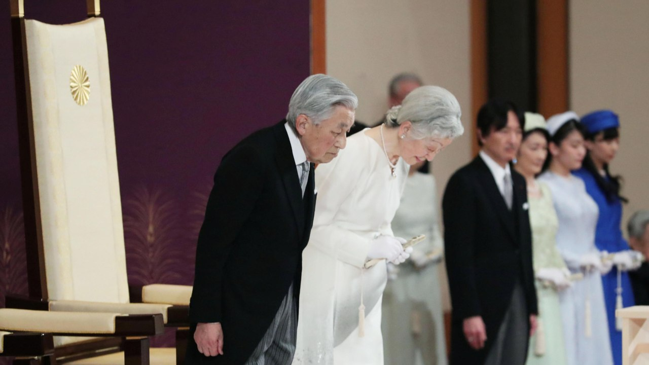 Emperor Akihito will abdicate his throne as the 125th Emperor of Japan effective midnight, citing his advancing age. This will be the first abdication by an emperor in Japan's Imperial Family in 200 years. (Image: Reuters)