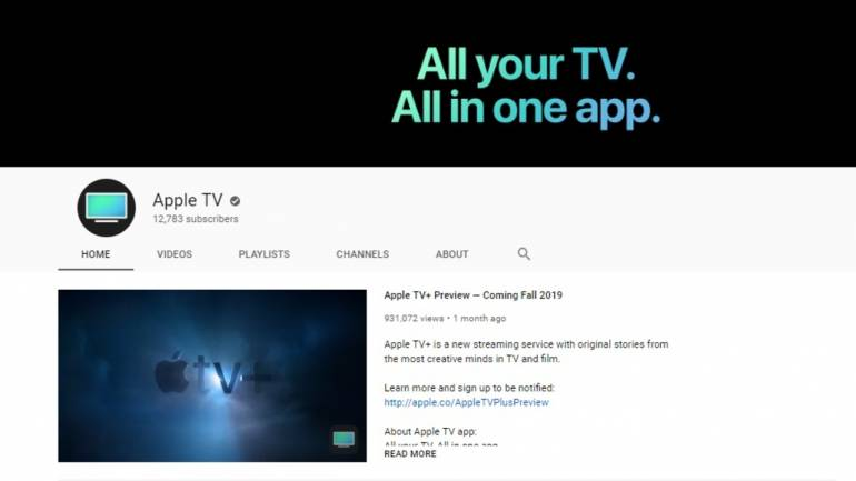 Apple launches YouTube channel under the radar, Apple TV