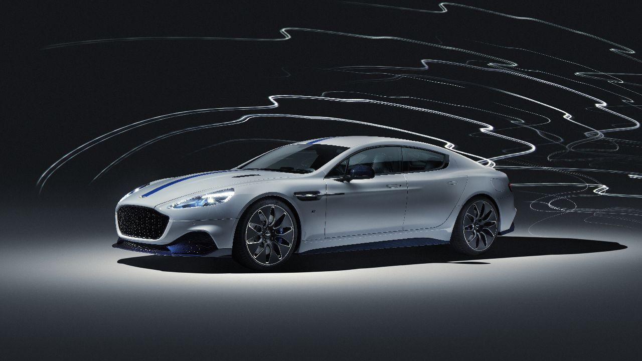 Christened the Rapide E, only 155 of these electric cars will ever be produced and is also the first car to be built at Aston Martin's state of the art St Athan production facility. (Image source: Aston Martin)