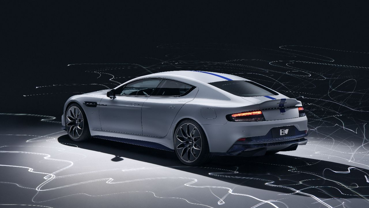 Aston Martin Lagonda just showed off the production-ready version of its first electric car at the Shanghai Motor Show. (Image source: Aston Martin)