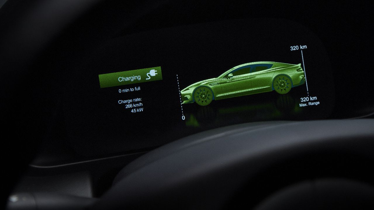 Of course, it has to have technology, since it is the futuristic electric type. You get a dedicated app to remotely monitor your car, something that displays various information like range, battery status, time to charge as well as the parking spot with walking directions. (Image source: Aston Martin)