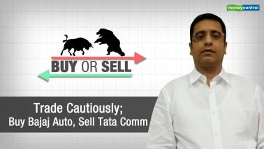 Trade cautiously; buy Bajaj Auto