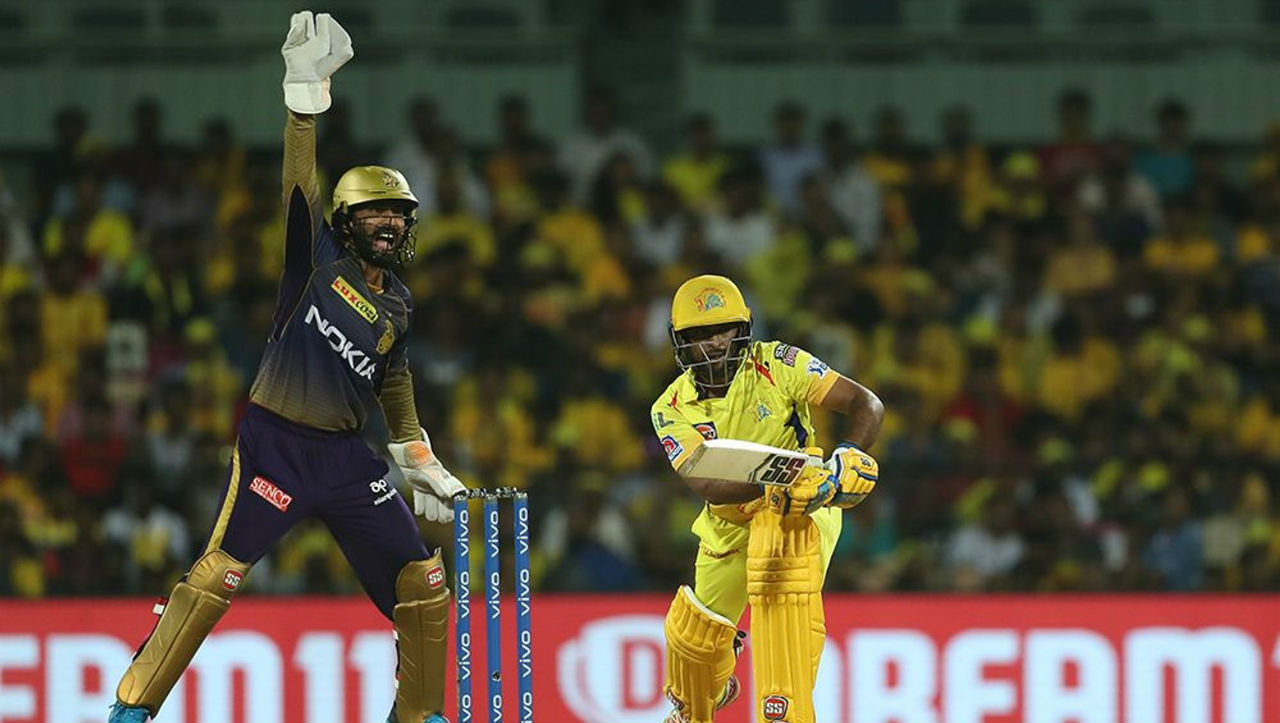Ambati Rayudu stitched a 46-run partnership with Faf du Plessis as the two batsmen took CSK close to the winning total.