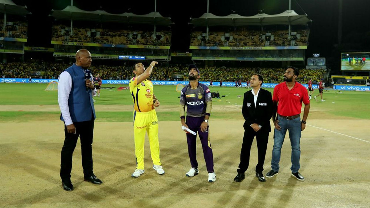 In the top of the table clash first placed Kolkata Knight Riders (KKR) met second placed Chennai Super Kings (CSK) at