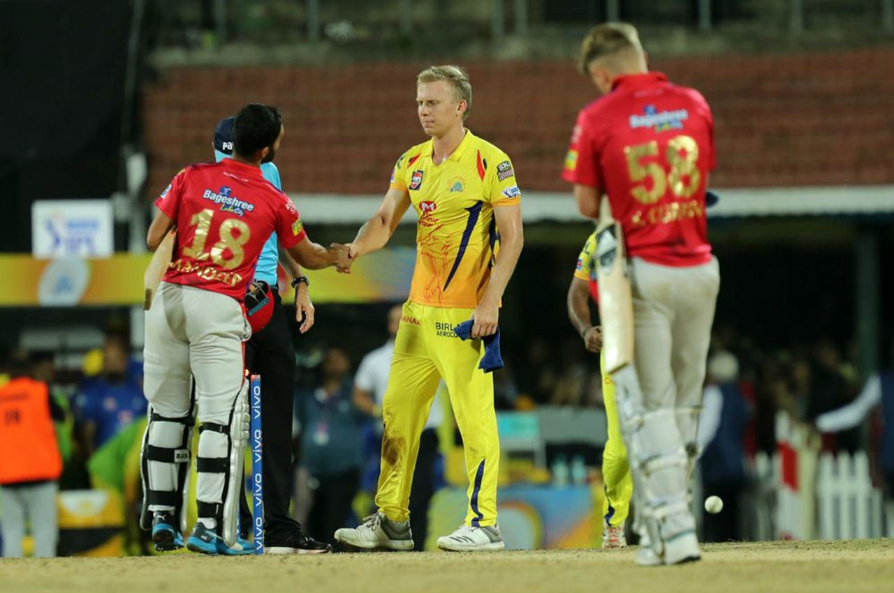 The equation came down to 26 runs needed off last over. Kuggeleijn conceded just four runs and picked the wicket of Sarfaraz as Chennai won the match by 22 runs.