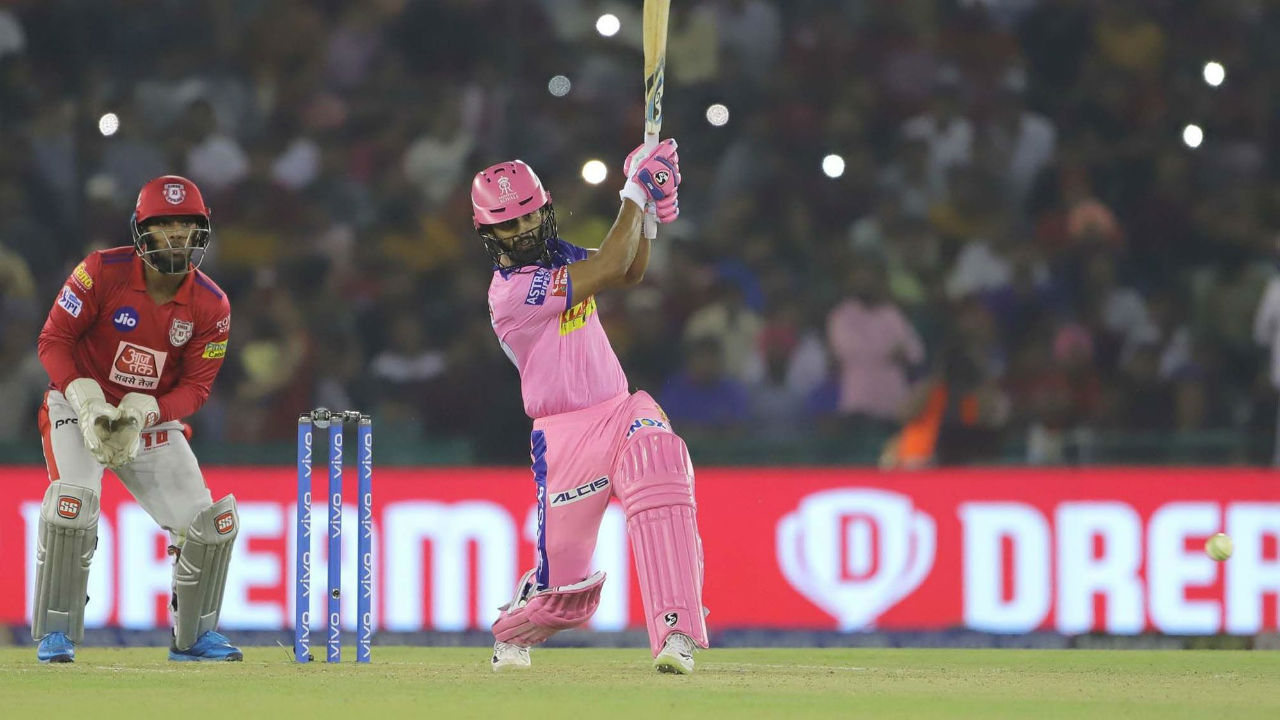 Rahul Tripathi completed his fighting knock of 50 from 44 balls on the fourth ball of 16th over. The RR batsman was out two balls later as he tried to up the ante going for a big shot against R Ashwin.