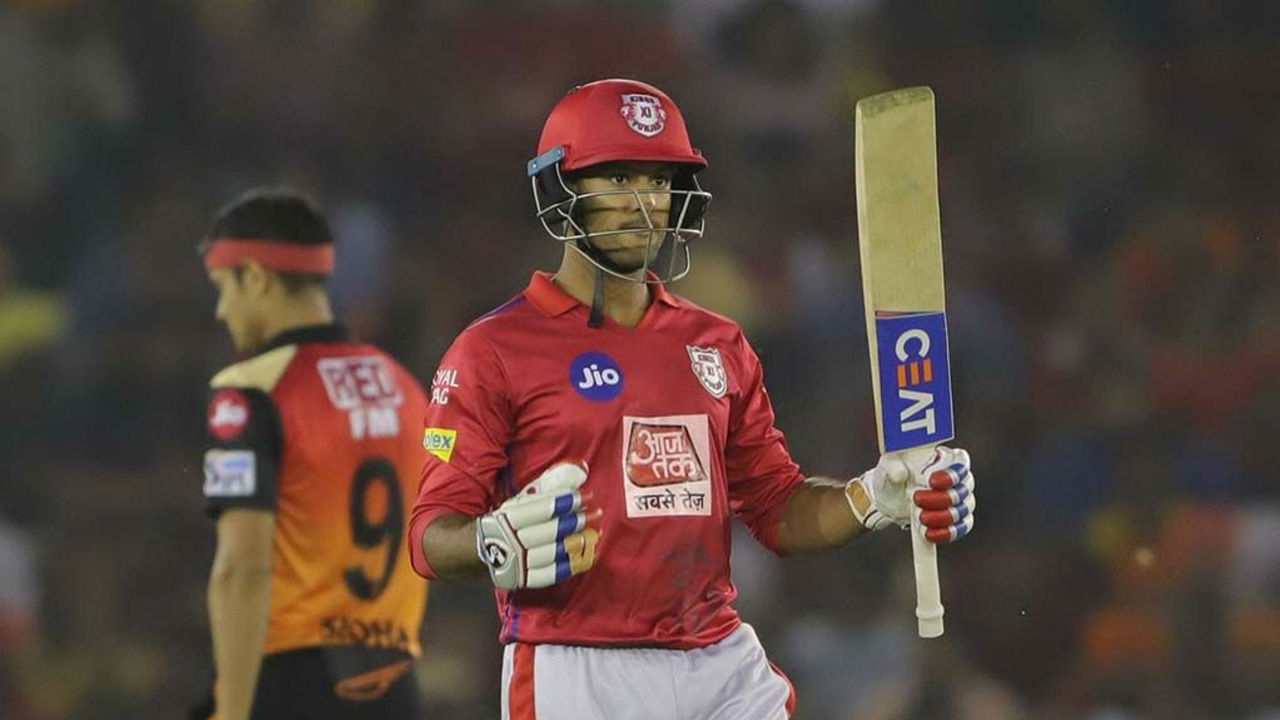 Agarwal reached his half-century in the 17th over. The batsman got out in the next over trying to play a big shot against Sandeep Sharma. The bowler dimissed David Miller in the same over as SRH looked to bounce back in the match.