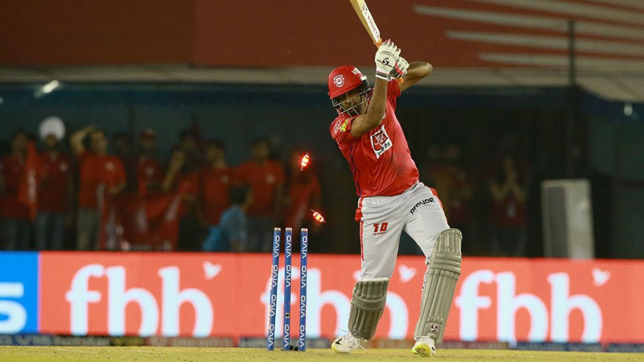 There were furry of wickets towards the end of Punjab's innings but Mandeep Singh's innings of 29 off 21 balls helped KXIP to a respectable total of 166/9.