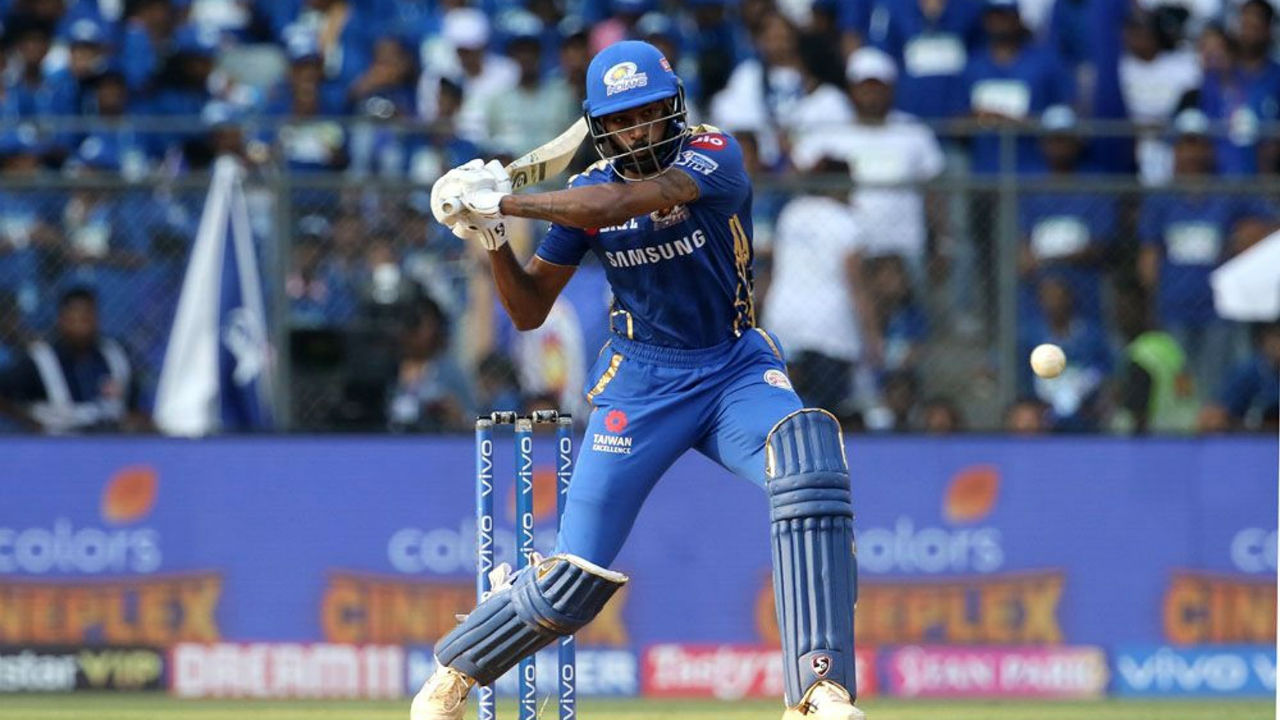 Hardik Pandya yet again provided a lat flourish to MI's innings as he scored 28 off 11 balls to push Mumbai's total to 187/5 in 20 overs.