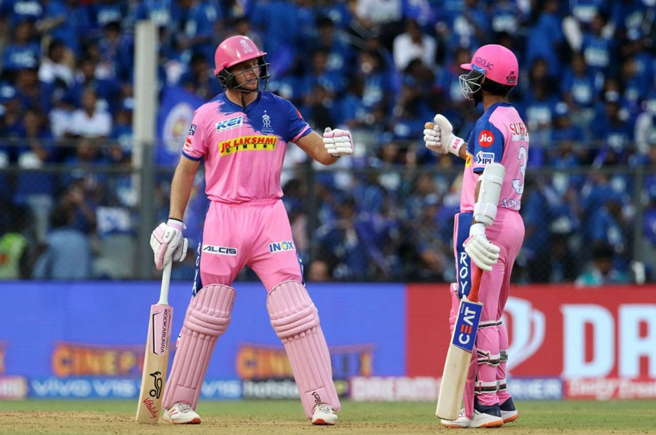 RR openers Jos Buttler and Ajinkya Rahane gave their team a decent start as they stitched an opening stand of 60 runs.