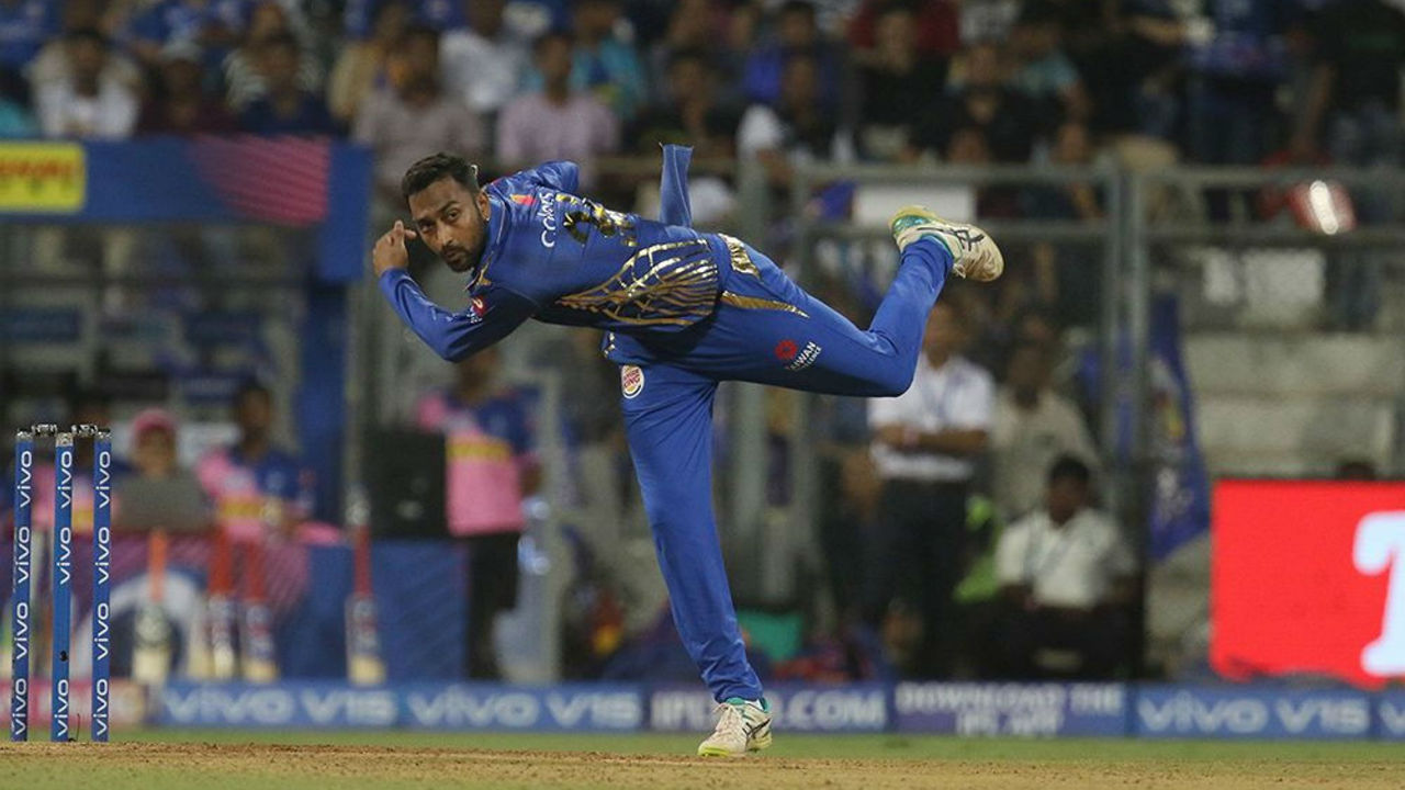 Krunal pandya picked the wickets of Rahul Tripathi and Liam Livingstone in the 18th over to keep Mumbai's hopes alive in the match.