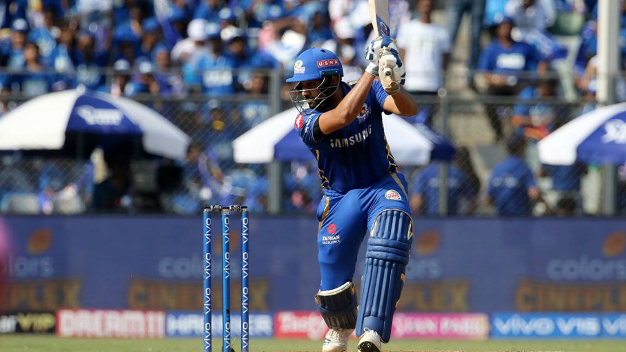 Rohit Sharma and Quinton de Kock gave their side a flying start managing 97 runs for the opening partnership.