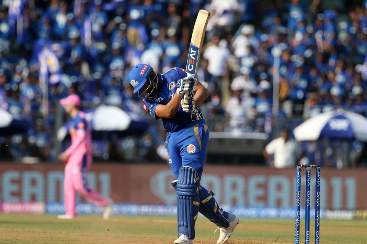 Rohit fell in the 11th over as he spooned a straightforward chance to Jos Buttler at at long-on off a Jofra Archer delivery. MI skipper made 47 off 32 balls.