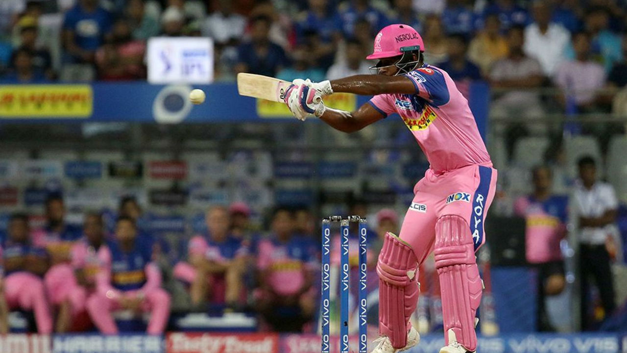 Sanju Samson played a decent knock of 31 off 26 balls before he was dismissed by Jasprit Bumrtah in the 17th over.