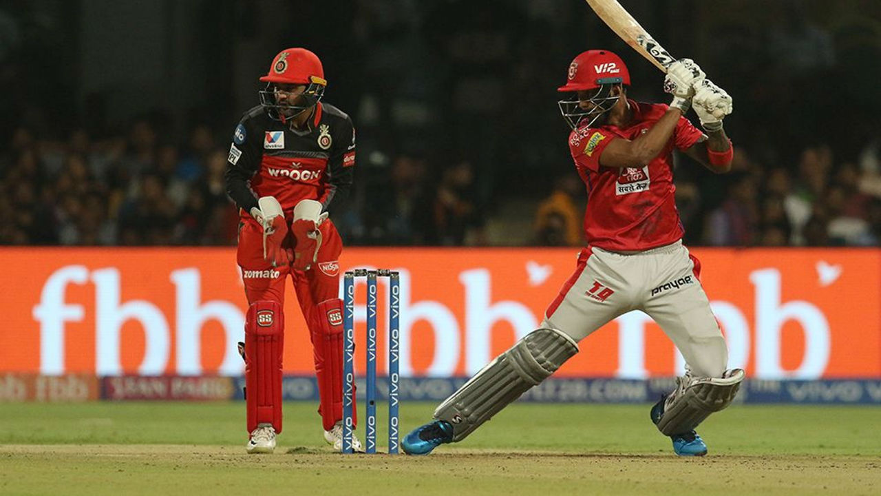KXIP openers KL Rahul and Chris Gayle hammered 42 runs in first three openers as the team were off to a fast start in the tall chase.