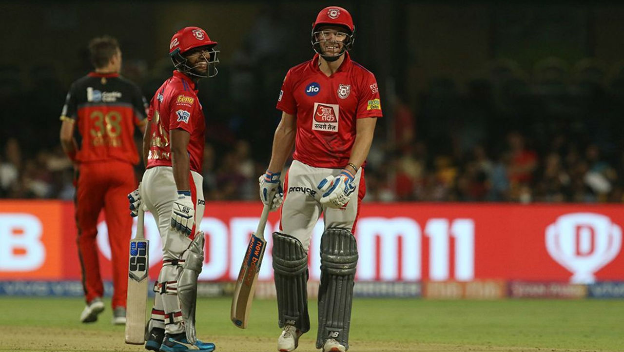 A 68-run partnership between Nicholas Pooran and David Miller kept KXIP alive in the chase. Miller made steady 24 from 25 balls before Navdeep Saini sent him back in the 19th over.