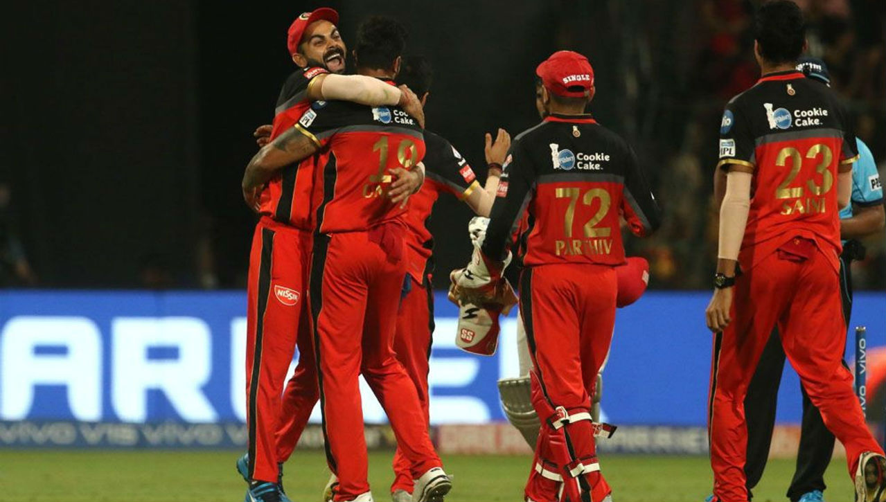 For once, RCB bowlers held nerves as KXIP fell short of 17 runs as RCB registered its third victory on the bounce.