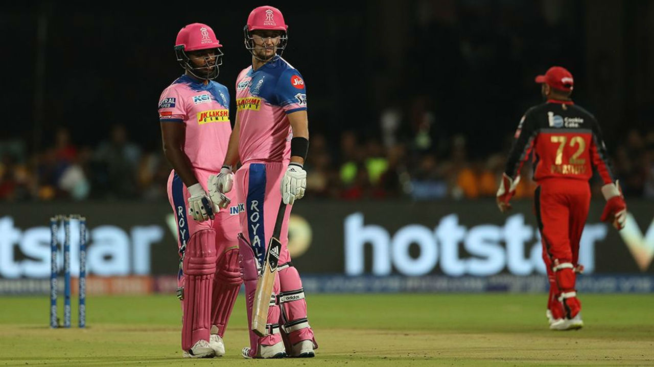 RR batsmen Sanju Samson and Liam Livingstone were steady in the chase as the two hammered 40 runs in first 3 overs.