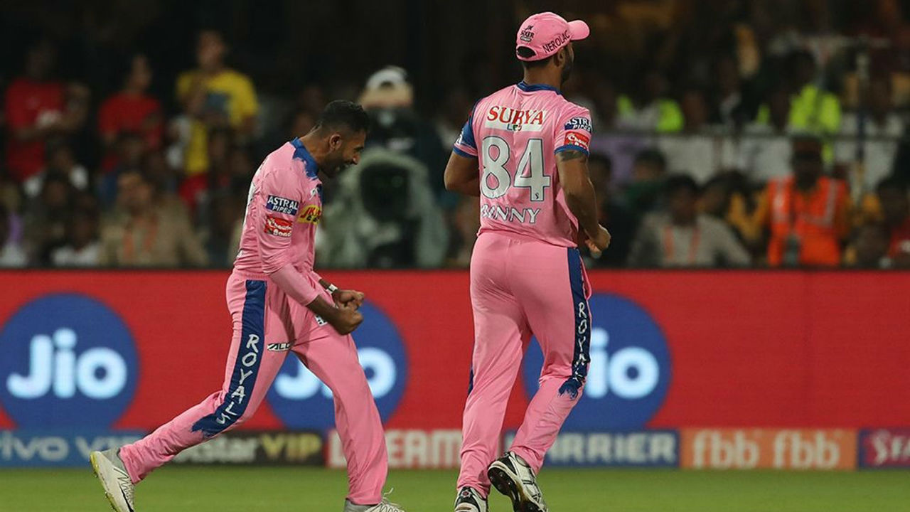 Things truned dramatically in the second over as RR spinner Shreyas Gopal scalped the wickets of Kohli, de Villiers and Marcus Stoinis off successive deliveries to complete a hat-trick.