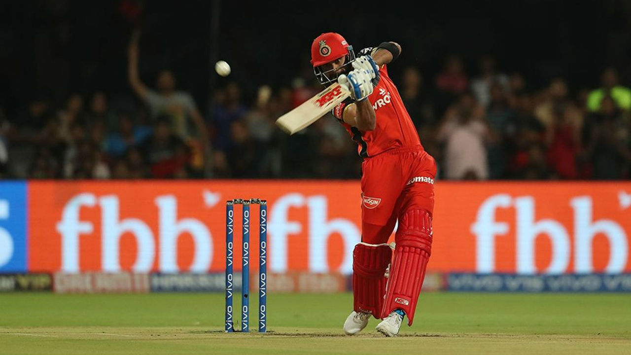 Virat Kohli opened the innings with AB de Villiers and the two RCB openers hammered 23 runs off the first over of the match bowled by Varun Aaron.