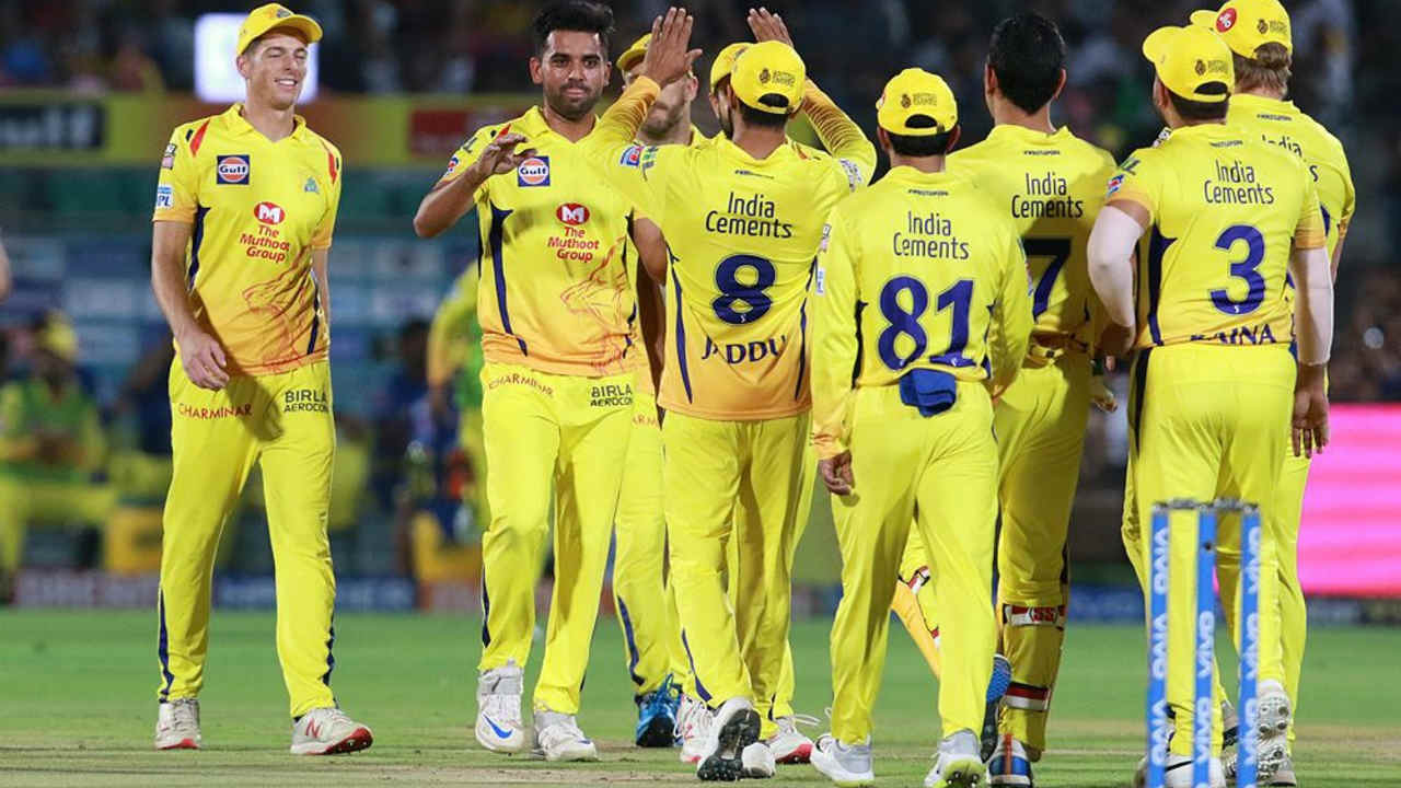 RR openers Ajinkya Rahane and Jos Buttler hammered CSK bowlers for 25 runs in first 2 overs before Deepak Chahar trapped the RR captain LBW on the fifth ball of the third over. Rahane made 14 off 11 as RR were 31/1. (Image: BCCI, iplt20.com)
