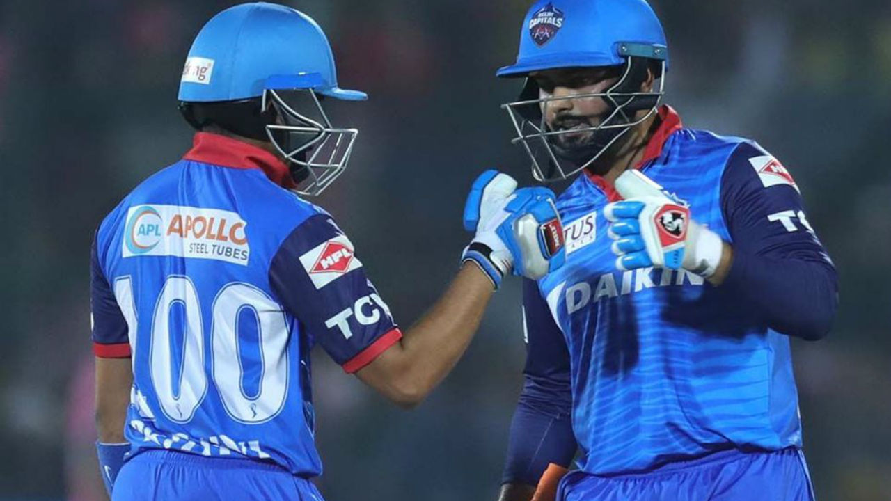 Prithvi Shaw along with Rishabh Pant steered the DC chase as the two engineered a 84-run partnership. Shaw was dismissed in the 17th over by Riyan Parag. The DC opener made 42.
