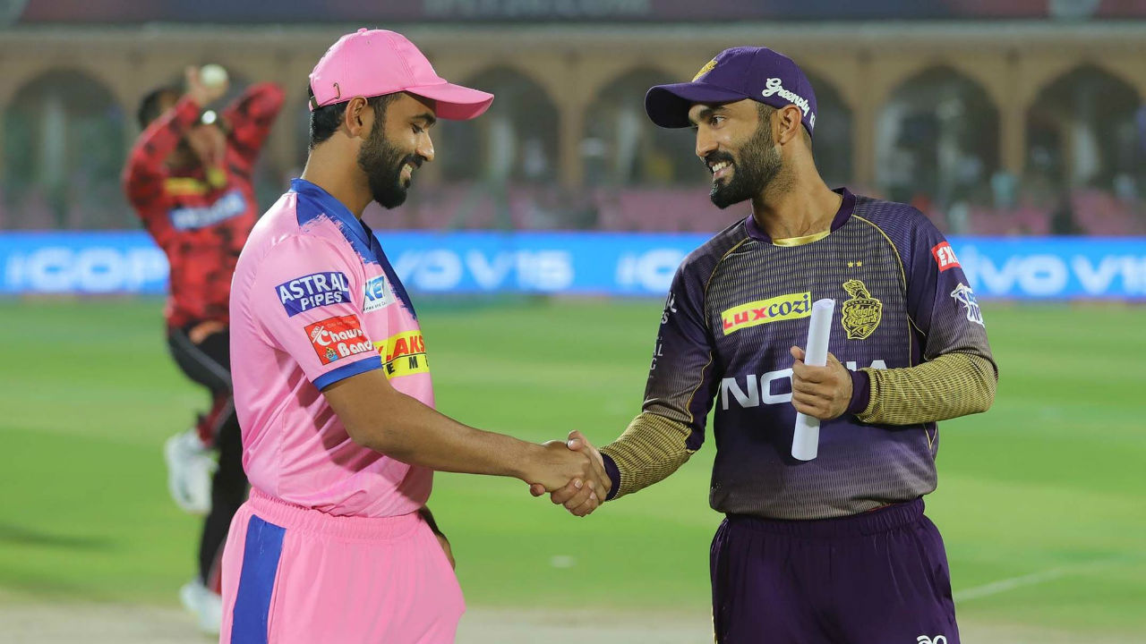 For match 21 of IPL 2019 Kolkata Knight Riders traveled to Jaipur to face Rajasthan Royals at the Sawai Mansingh Stadium. Kolkata Knight Riders captain Dinesh Karthik won the toss and elected to bowl. Rajasthan made two changes, bringing in Prashant Chopra in place of Stuart Binny and Sudhesan Midhun for Varun Aaron. For KKR, Harry Gurney came in for Lockie Ferguson.