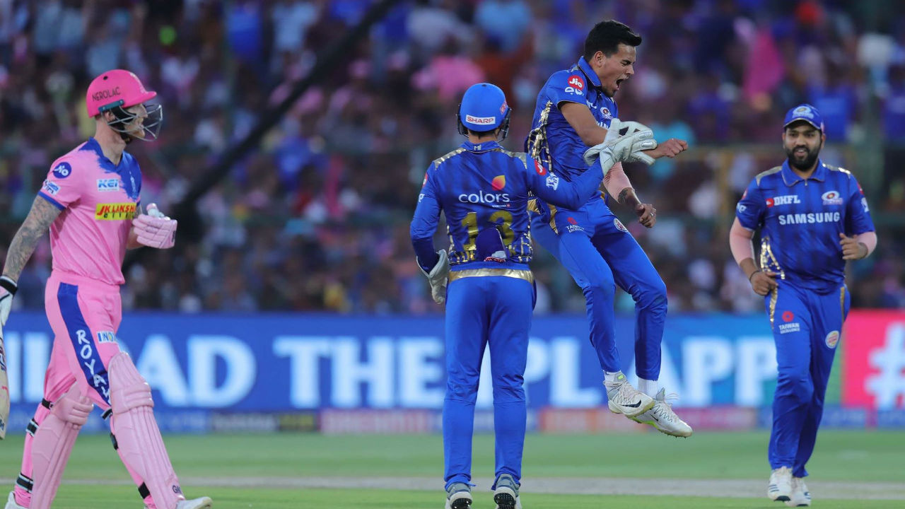 Chahar further dented the RR chase as he castled Ben Stokes for not four balls after the Samson's wicket. Chahar finished with the figures of 4-0-29-3.