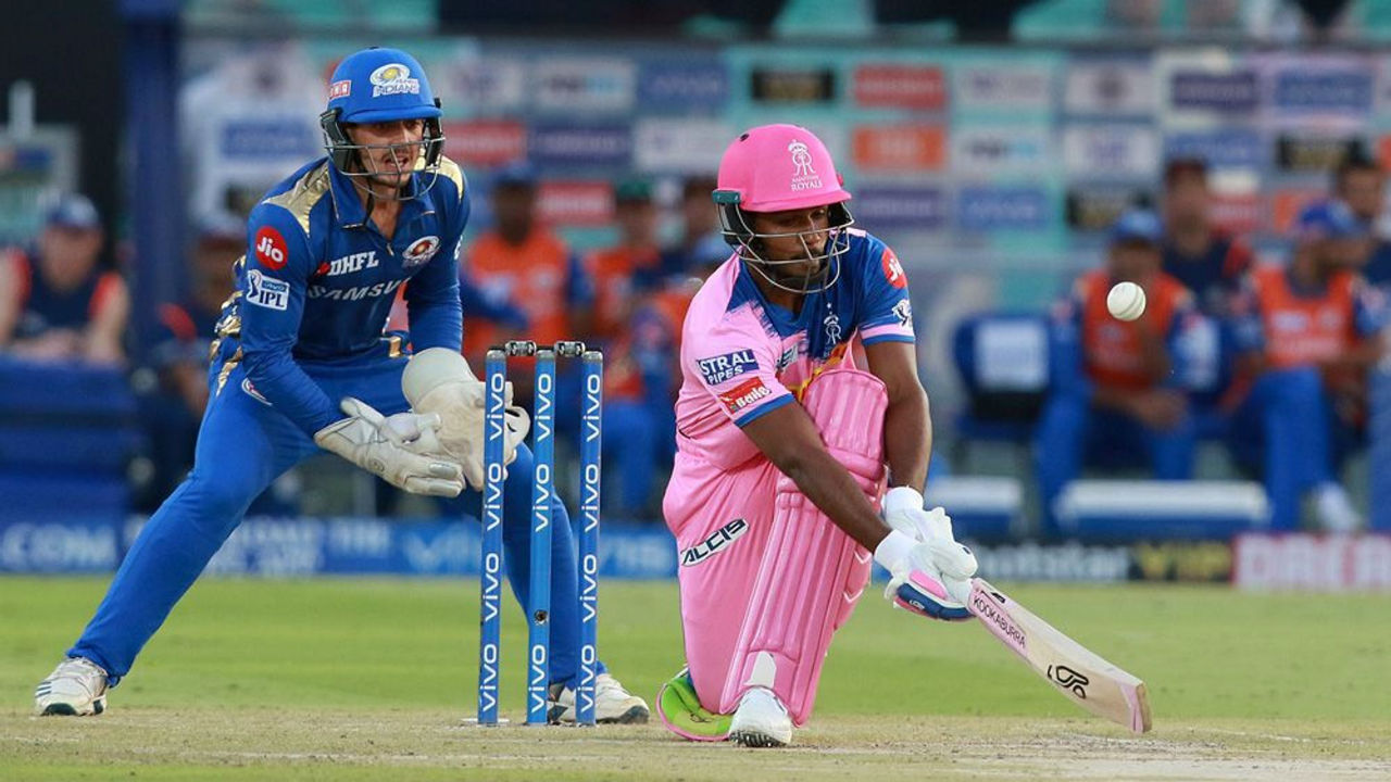 Sanju Samson played a brisk innings of 35 from 19 balls before he became Chahar's second wicket of the evening. Samson was dismissed in the 8th over with RR score reading 76/2.