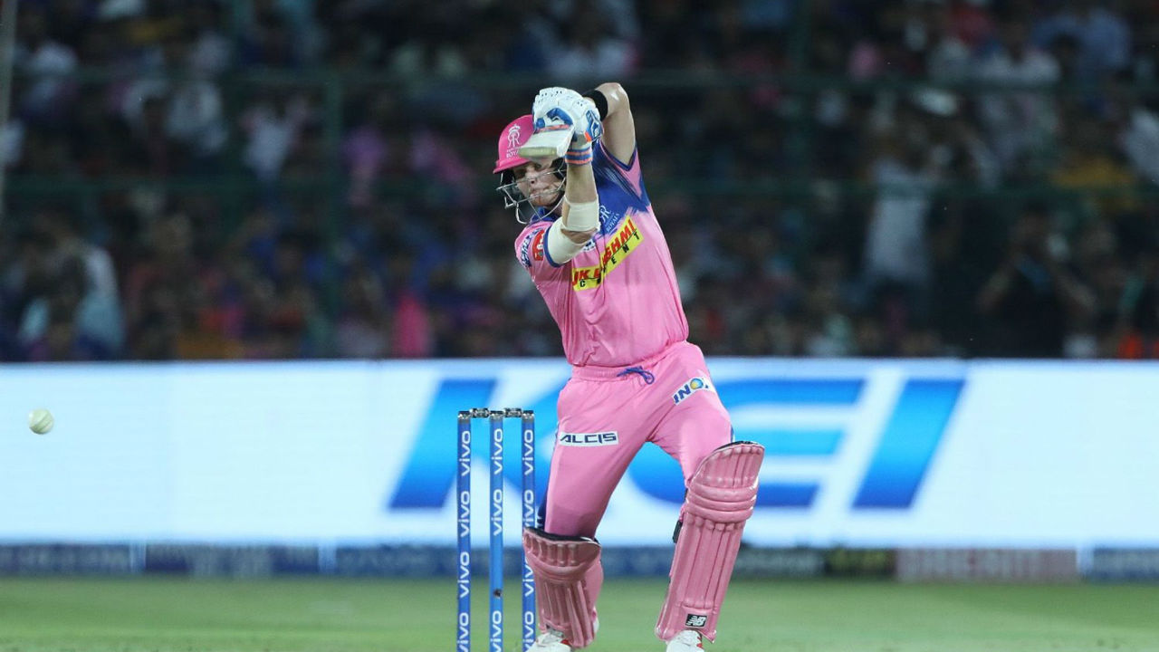IPL 2019 RR vs MI Steve Smith 50