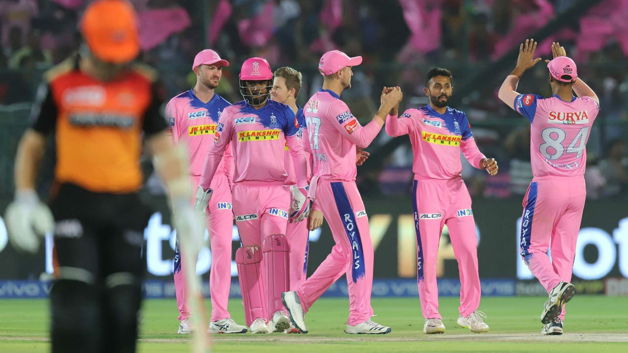 At score of 28, RR spinner Shreyas Gopal delivered the first blow as he clean-bowled Williamson on the fifth ball of the fourth over. Williamson made 13 off 14.