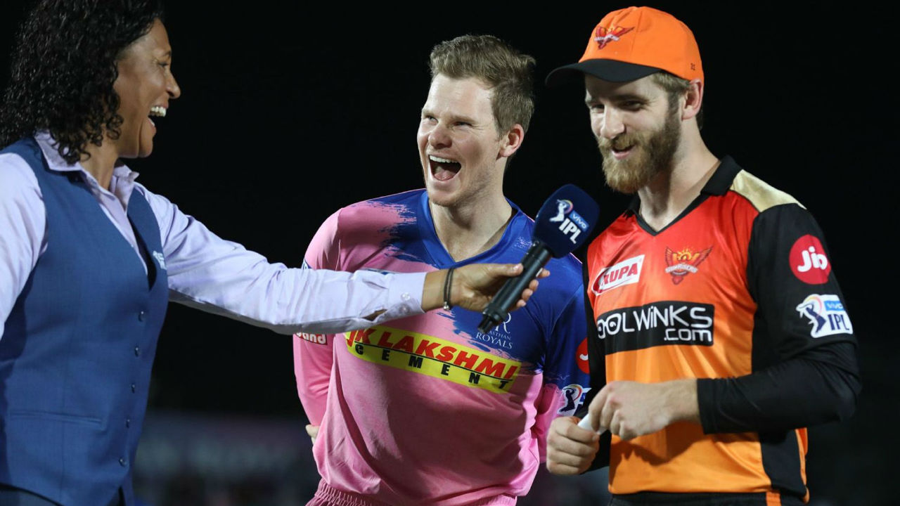 For match 45 of Indian Premier League 2019, Rajasthan Royals welcomed Sunrisers Hyderabad at Sawai Maan Singh Stadium in Jaipur. Rajasthan Royals won the toss and elected to bowl first. Rajasthan made two changes, bringing in Liam Livingston and Ashton Turner in place of Ben Stokes and Jofra Archer, both of whom have left to join their national side ahead of the upcoming ODI World Cup. Sunrisers skipper Kane Williamson and wicket-keeper batsman Wriddhiman Saha returned in the playing XI.(Image: BCCI, iplt20.com)