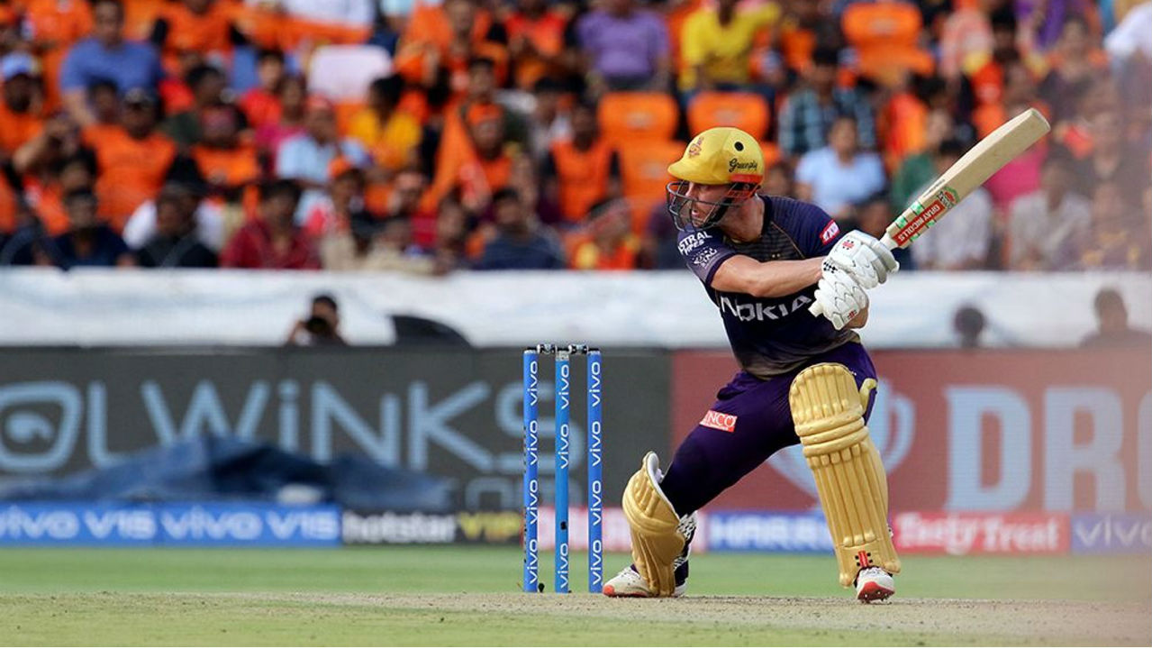 Lynn in association with Lynn however knocking runs as the tow stablized KKR's faltering innings. Lynn completed his fifty on the fourth ball of the 17th over . The KKR opener was dismissed two balls later by Khaleel. Lynn returned to the dressing room after making 51 off 47 balls.