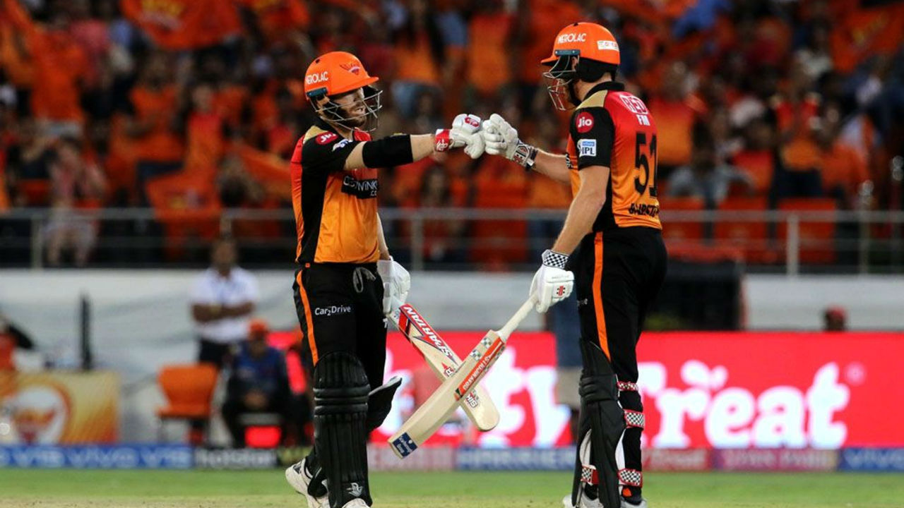SRH opening pair of Jonny Bairstow and David Warner gave their side a blazing start as the team crossed 100 in just 8.4 overs.