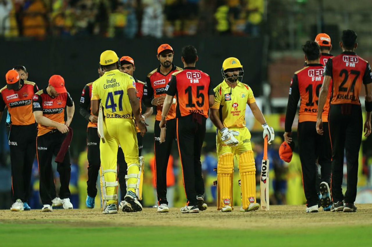 Ambati Rayudu made 21 and Kedar Jadhav was not out on 11 as CSK chased the total down in 19.5 overs.