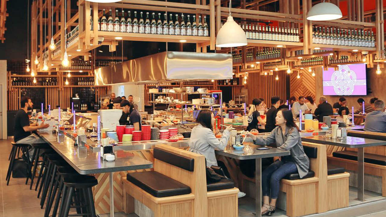 At the total cost of $12 billion, by 2025, four phases will be constructed. (People having food at the food court in the airport. Image: Istanbul Airport's Twitter handle)