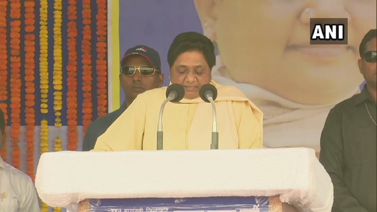 Bahujan Samaj Party (BSP) chief Mayawati during a rally in Bhubaneswar, Odisha. (Image: ANI)