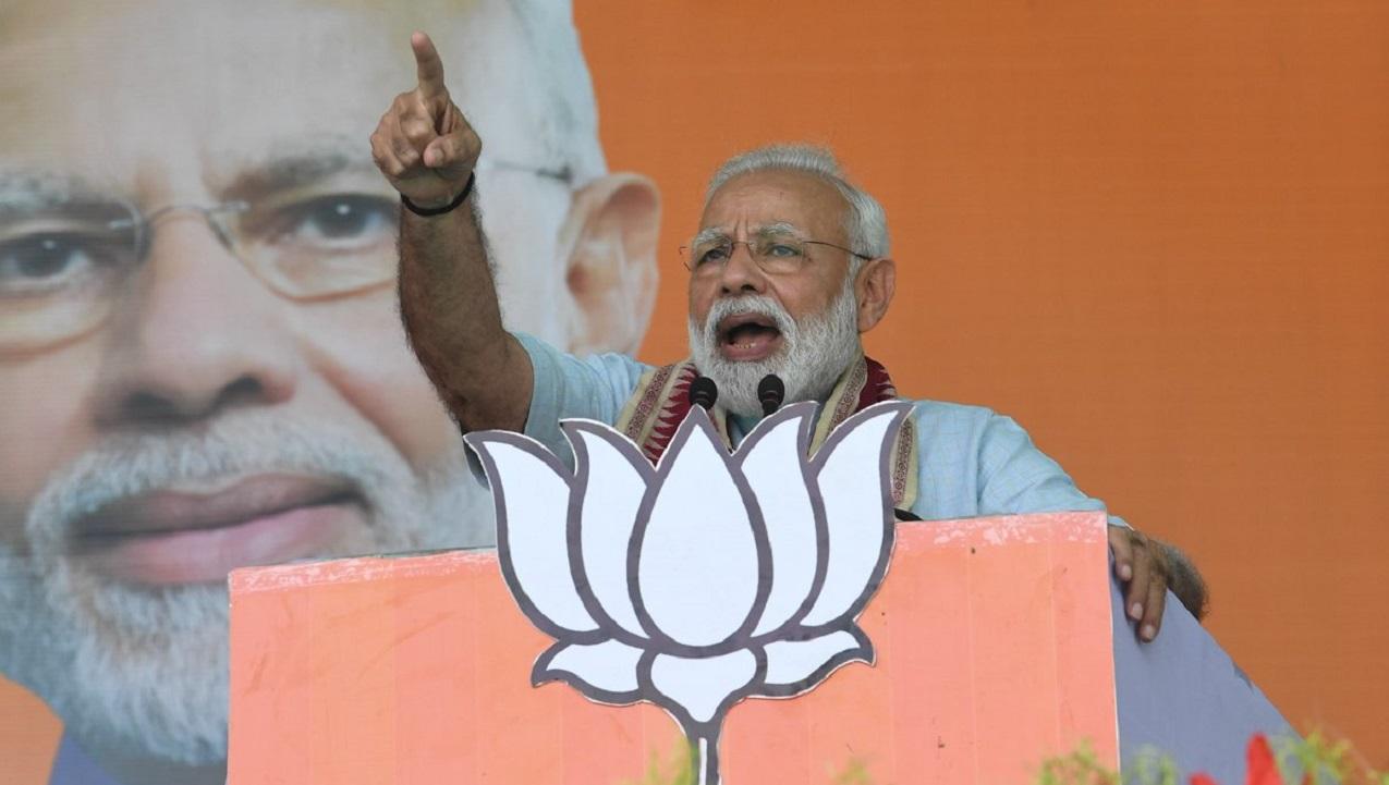 Prime Minister Narendra Modi during a rally in Kalahandi, Odisha. (Image: Narendra Modi, Twitter)